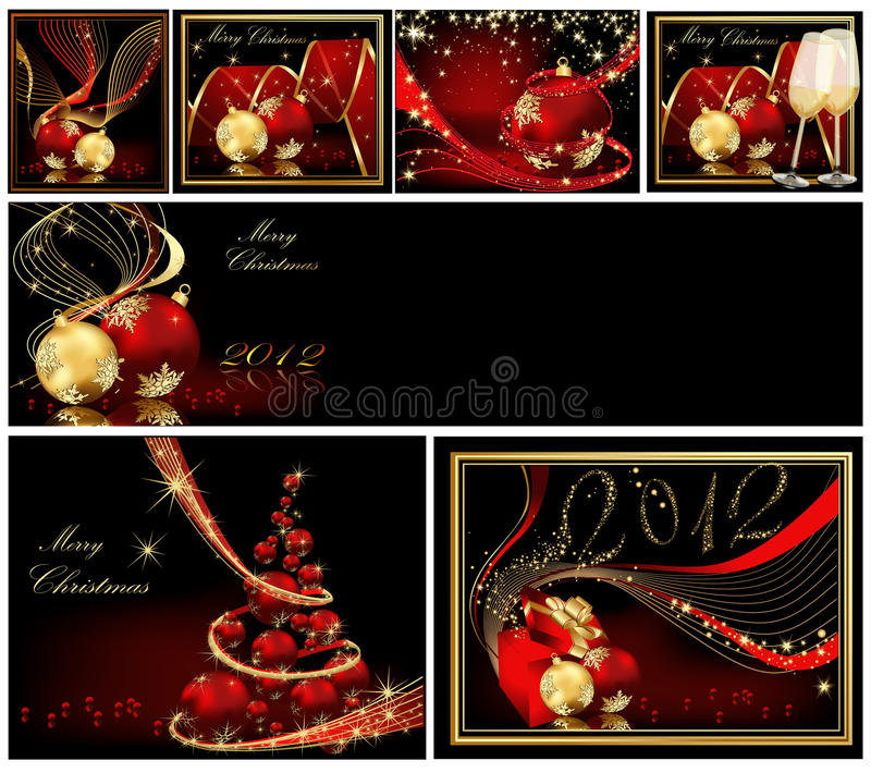 Merry Christmas background collections royalty free illustration