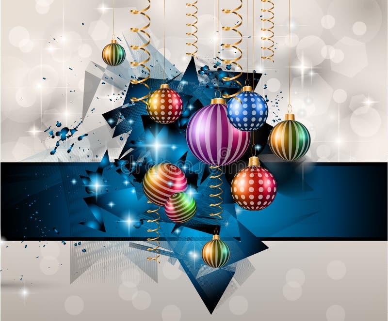 Merry Christmas Background for your Festive seasonal Flyers stock illustration