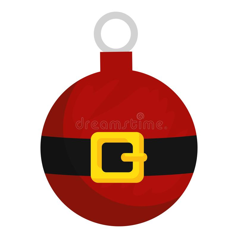 Merry christmas ball with santa claus belt stock illustration