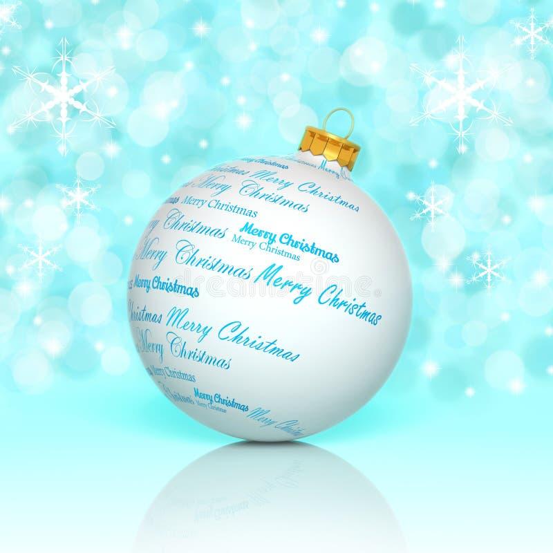 Merry Christmas ball. Merry Christmas words forming a Christmas ball stock illustration