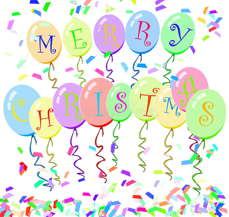 Merry christmas balloons royalty free stock photography