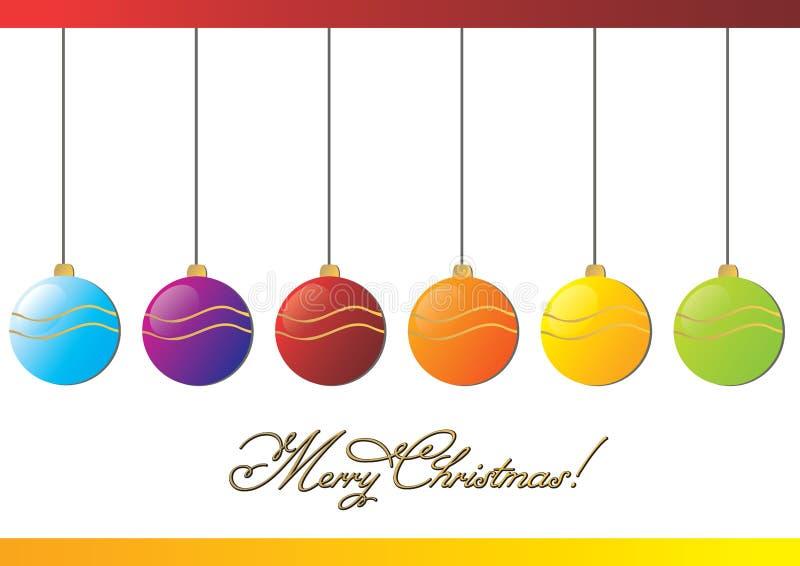 Merry Christmas balls stock illustration