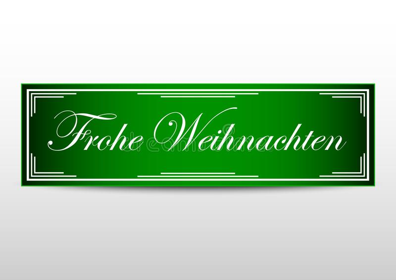 Merry christmas banner design with green color and german language download merry christmas banner design with green color and german language stock vector illustration of m4hsunfo