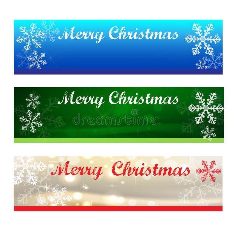 Merry christmas banners stock image