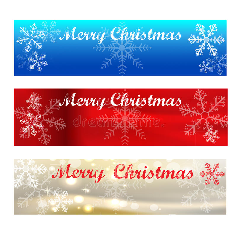 Merry Christmas Banners-colour samples royalty free stock photo