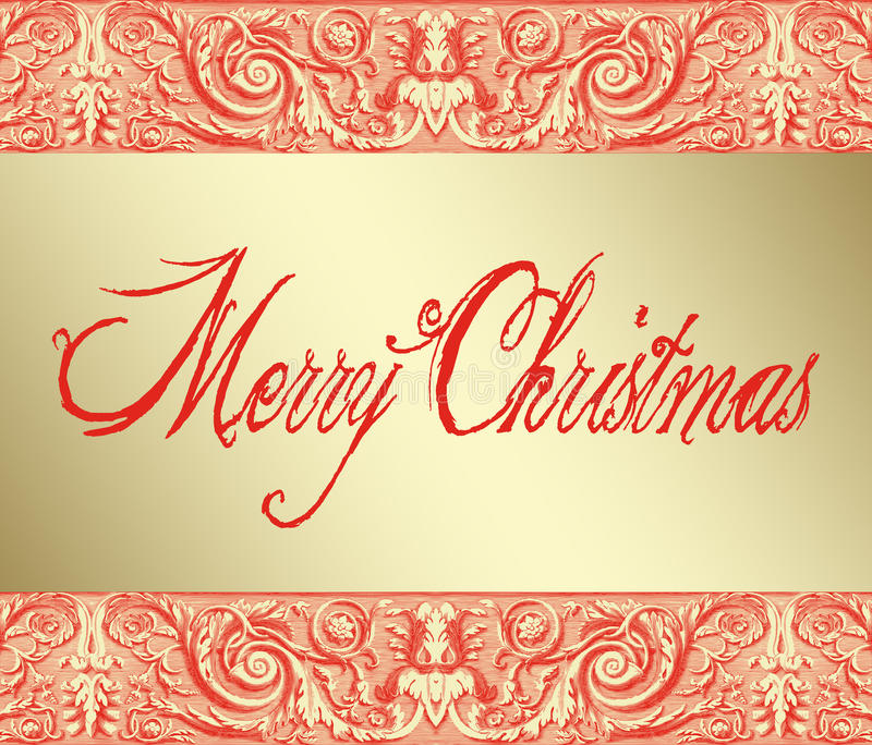 Download Merry Christmas On Baroque Background Stock Illustration - Image: 33531656