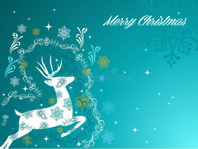 Merry Christmas beautiful vintage reindeer backgro stock images
