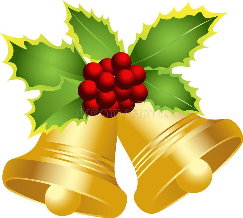 Merry Christmas bells royalty free illustration