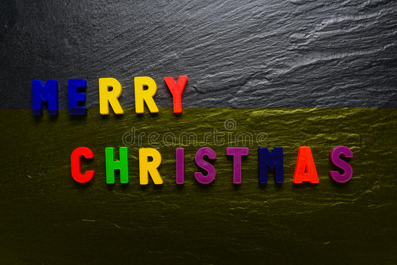 Merry Christmas - Black Slate Texture Background - Stone - Grunge Texture royalty free stock images