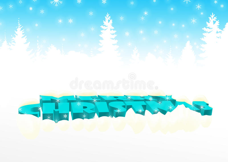 Merry Christmas In Blue Stock Images