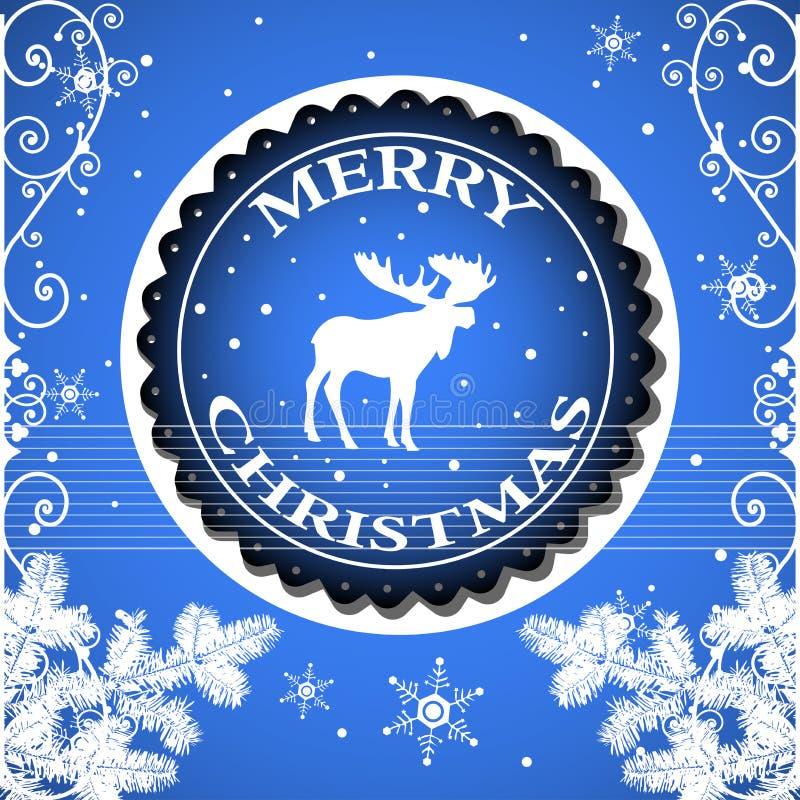 Download Merry Christmas stock vector. Image of ornate, reindeer - 34544935