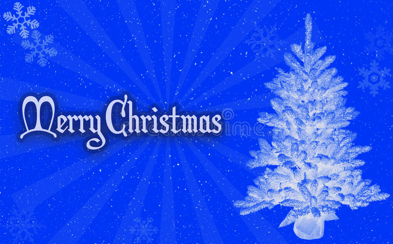 Merry christmas blue background stock images