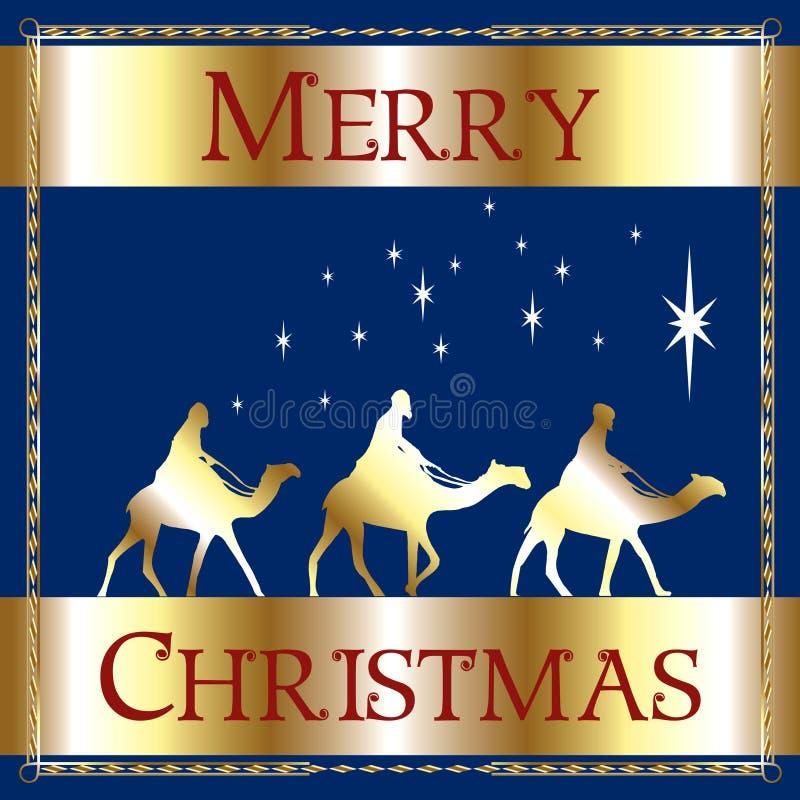 Download Merry Christmas Blue Wisemen Stock Illustration - Illustration: 16372407