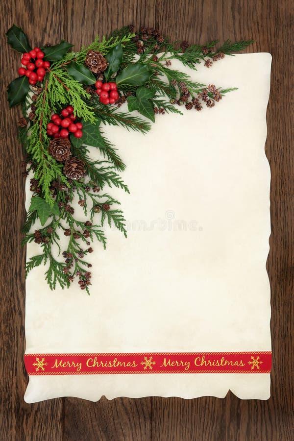 Merry Christmas Border royalty free stock photo