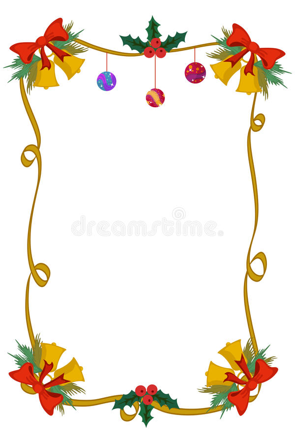 Merry Christmas Border And Decoration Frame Stock Vector ...
