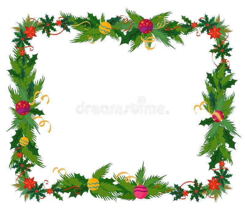merry christmas border and decoration frame stock vector rh dreamstime com christmas border vector designs christmas lights border vector