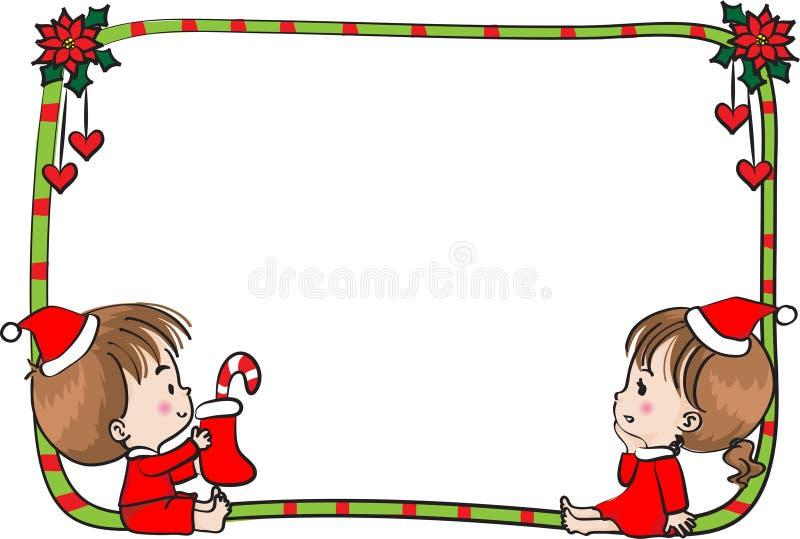 Merry Christmas Border Frame Stock Illustration - Illustration of ...