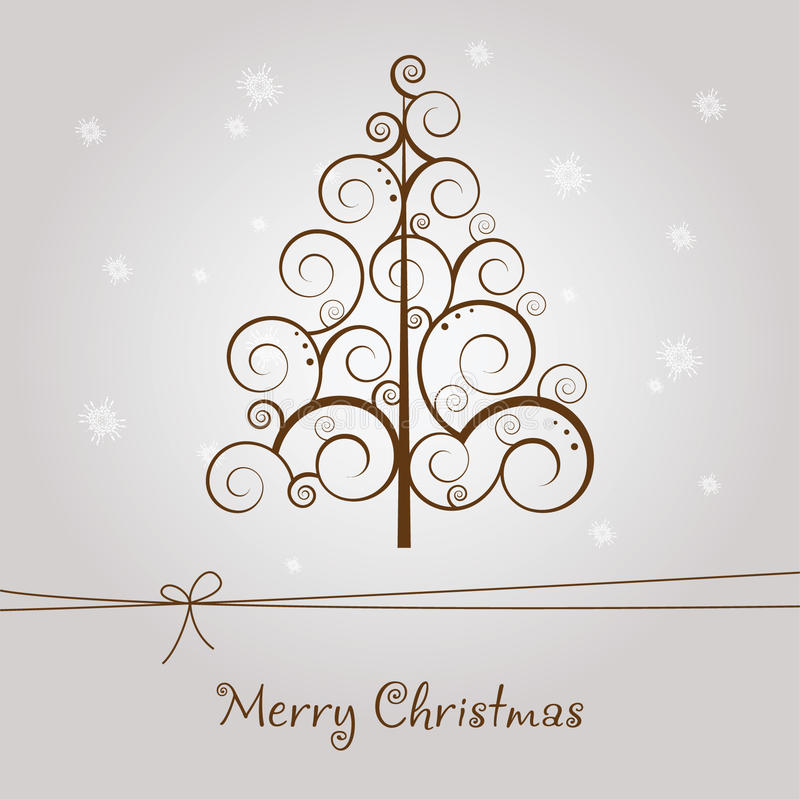 Download Merry Christmas card stock vector. Image of branch, celebration - 21694478
