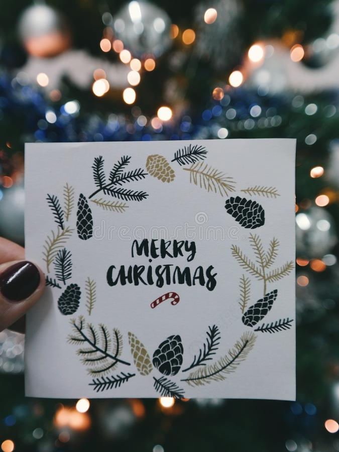 Merry Christmas card stock photo