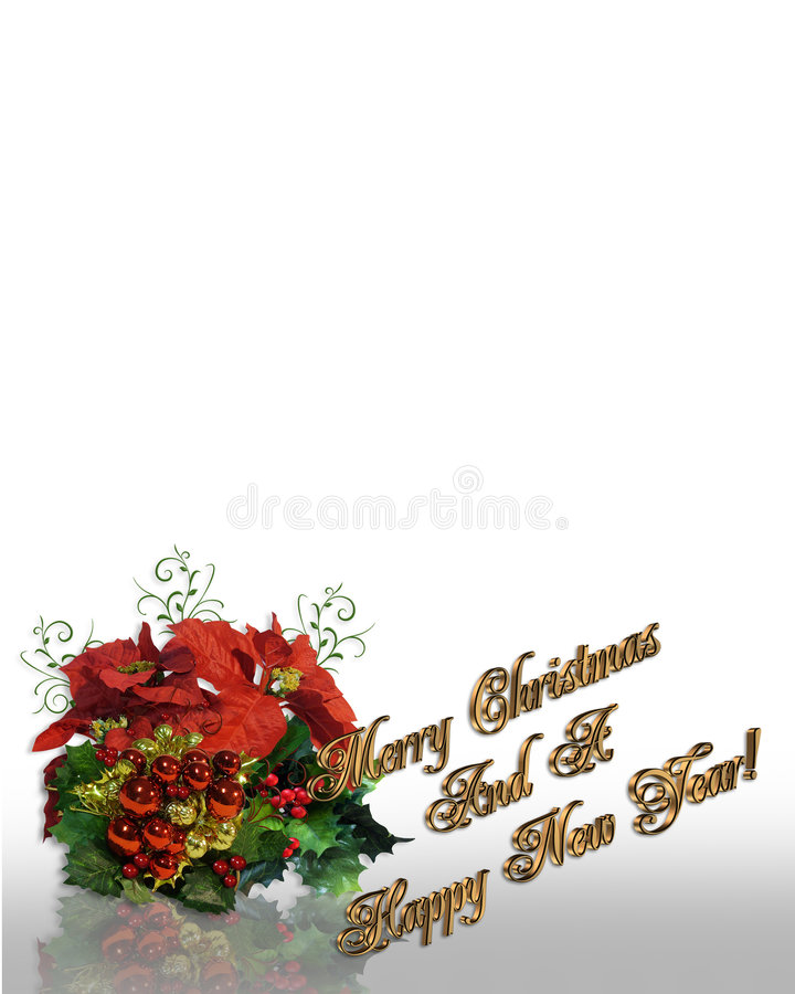 Merry Christmas Card Background stock photography