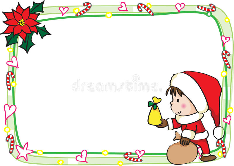 Merry Christmas Card Border Frame Stock Illustration Illustration Of Shape Drawing 47411750