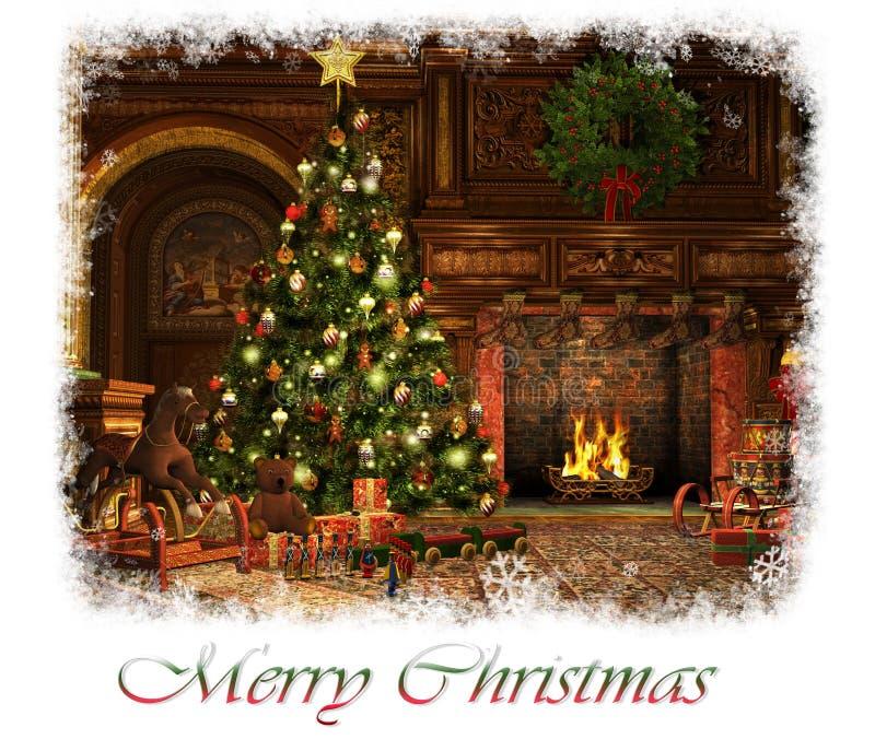 Merry Christmas Card, 3d CG stock illustration