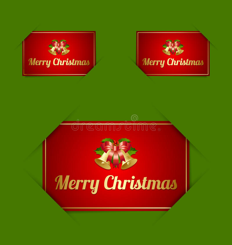 Download Merry Christmas Card Holders Stock Vector - Illustration: 27234685