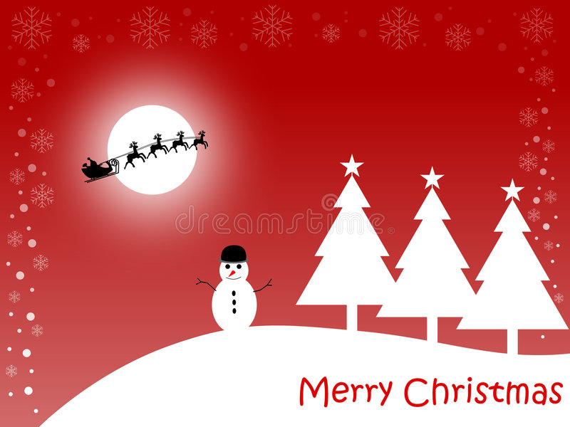 Download Merry Christmas Card [Red] Stock Photography - Image: 3780802