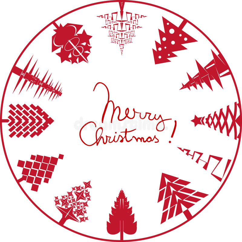 Download Merry christmas card stamp stock vector. Image of image - 28147953