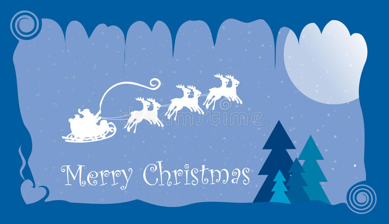 Merry christmas card, universal card vector illustration