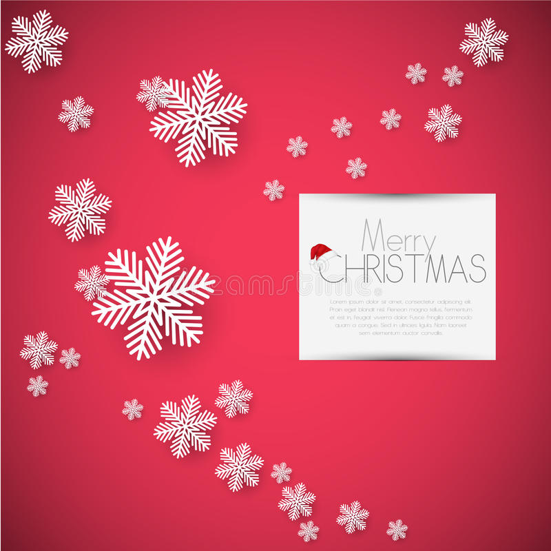 Merry Christmas card, vector royalty free stock image