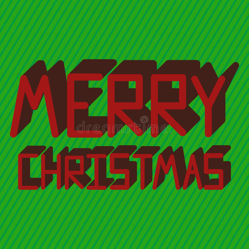 Merry Christmas Card. royalty free illustration