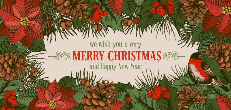 Merry Christmas card stock illustration