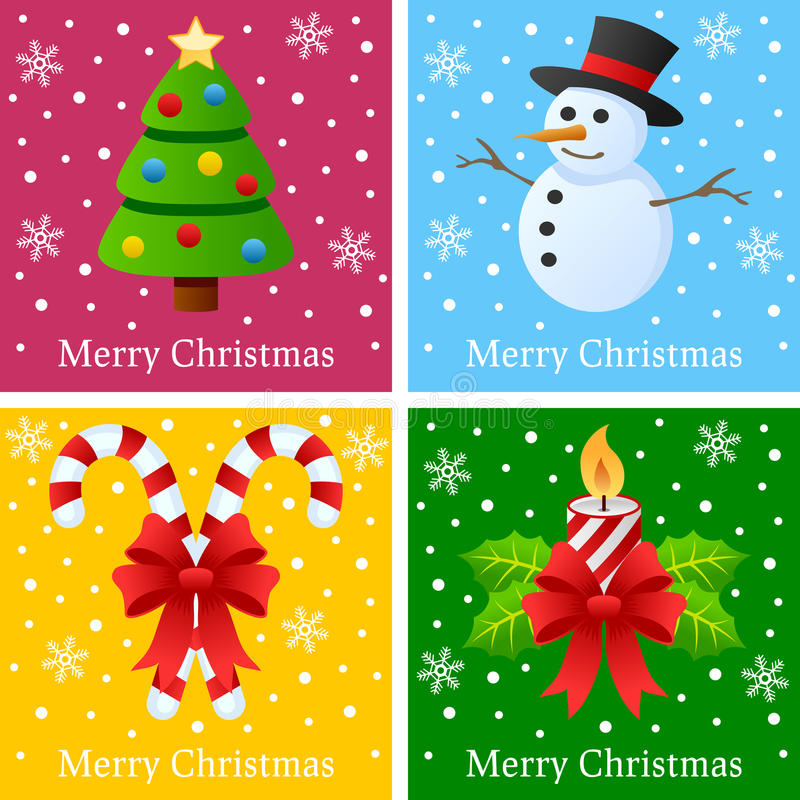 Merry Christmas Cards stock illustration