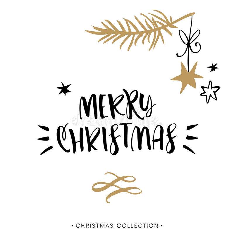 merry christmas christmas greeting card with calligraphy. Black Bedroom Furniture Sets. Home Design Ideas