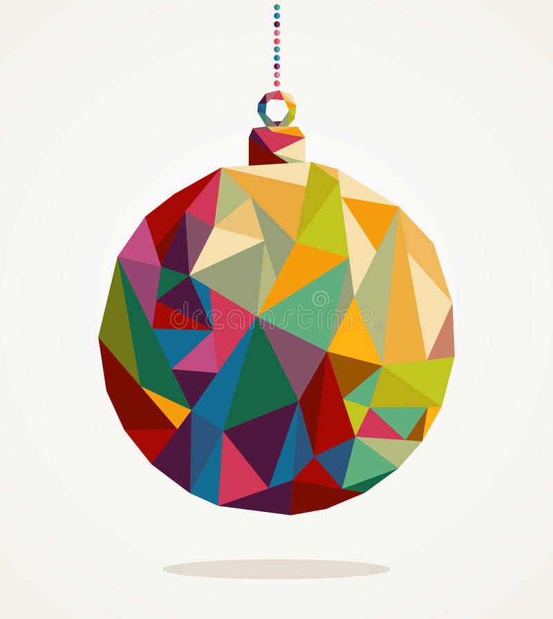 Merry Christmas circle bauble with triangle composition EPS10 file. royalty free illustration