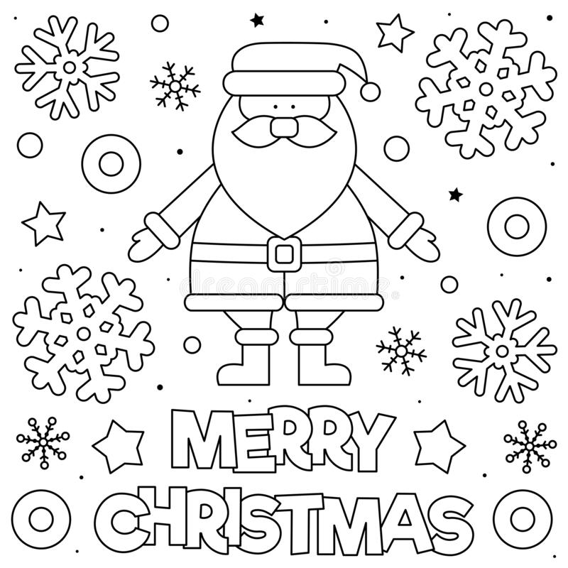 - Merry Christmas. Coloring Page. Black And White Vector Illustration. Stock  Vector - Illustration Of Colorless, Christmas: 161495129