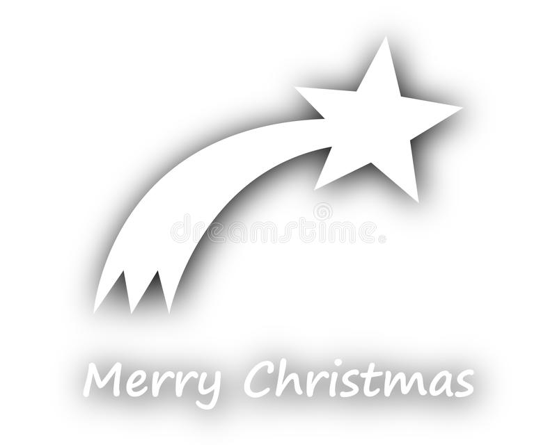 Merry Christmas with comet on white. Detailed and accurate illustration of merry Christmas with comet on white vector illustration