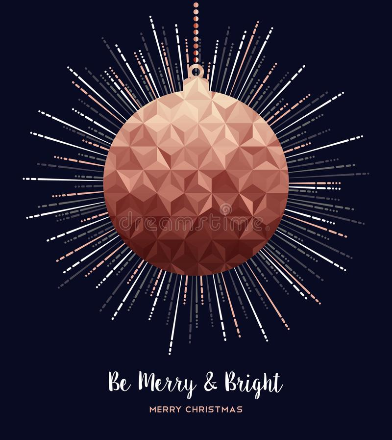 Merry Christmas copper luxury greeting card royalty free illustration