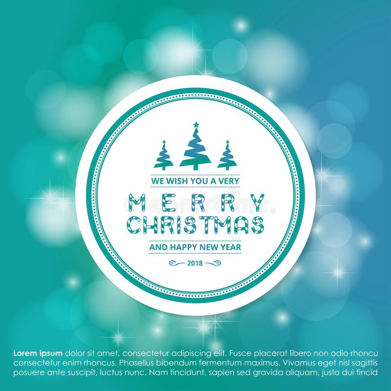Merry Christmas creative design with blue background vector. This Vector EPS 10 illustration is best for print media, web design, application design user royalty free illustration