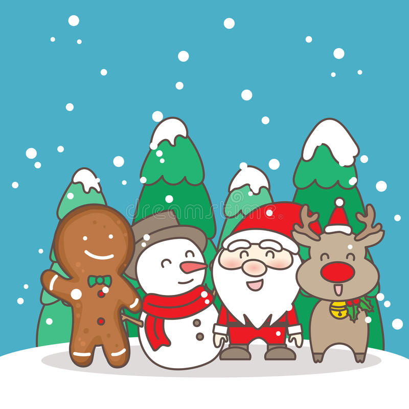 Merry christmas day vector illustration