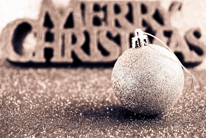 Merry Christmas. Decor and wishes sparkling and suttle royalty free stock image
