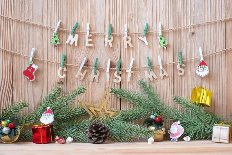Merry Christmas decoration party preparation for holiday concept, Happy New Year stock images