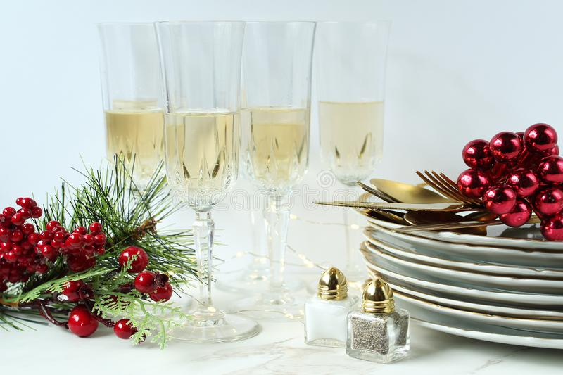 Merry Christmas dinner party celebration royalty free stock photo