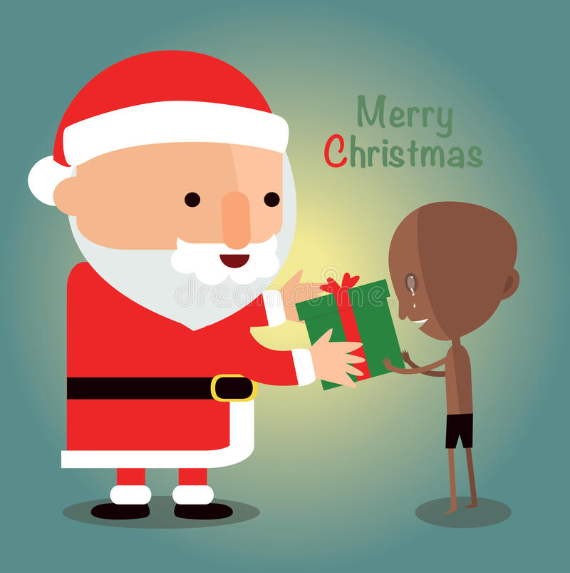 Merry christmas for Disadvantaged children. Eps10 royalty free illustration