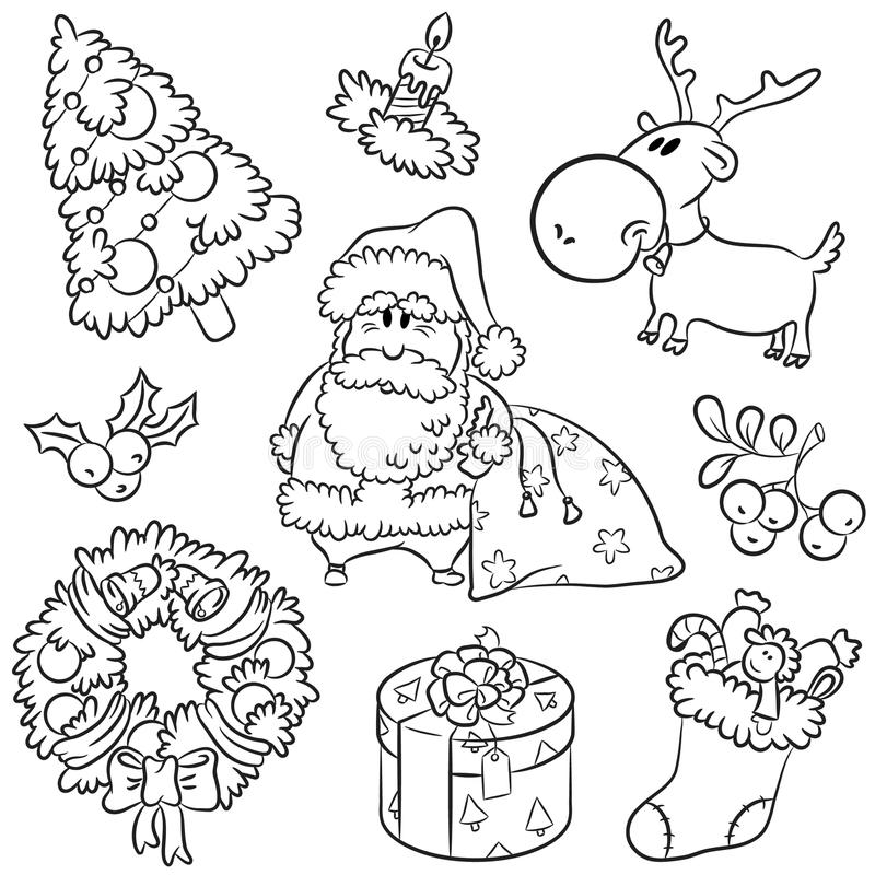 Download Merry Christmas Doodles Stock Photo - Image: 15906050