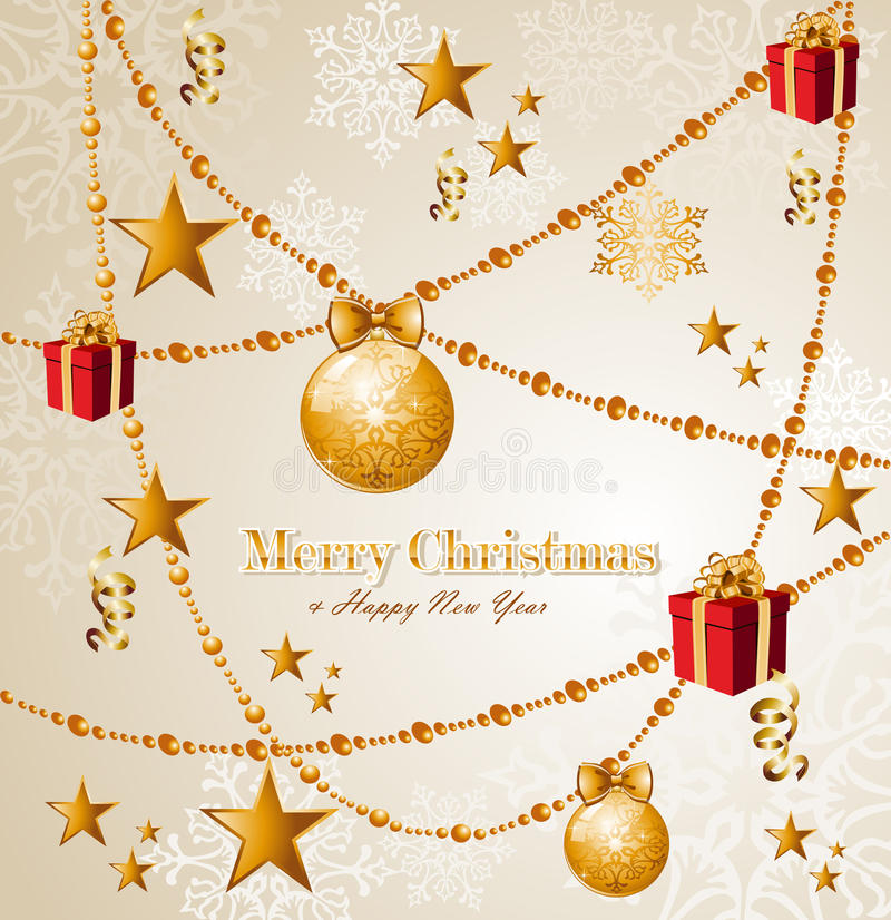 Merry Christmas elements background EPS10 vector f royalty free stock image