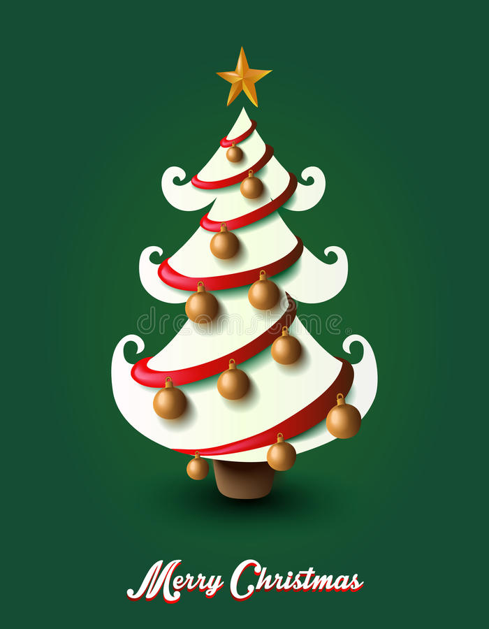 Merry Christmas elements decoration tree EPS10 file. royalty free stock images