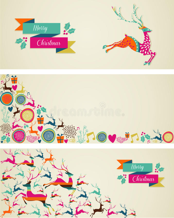Download Merry Christmas Elements Template Web Banners Set. Stock Vector - Image: 34655214