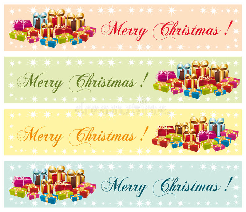 Merry Christmas ! Festive Commercial Banners. Royalty Free Stock Image